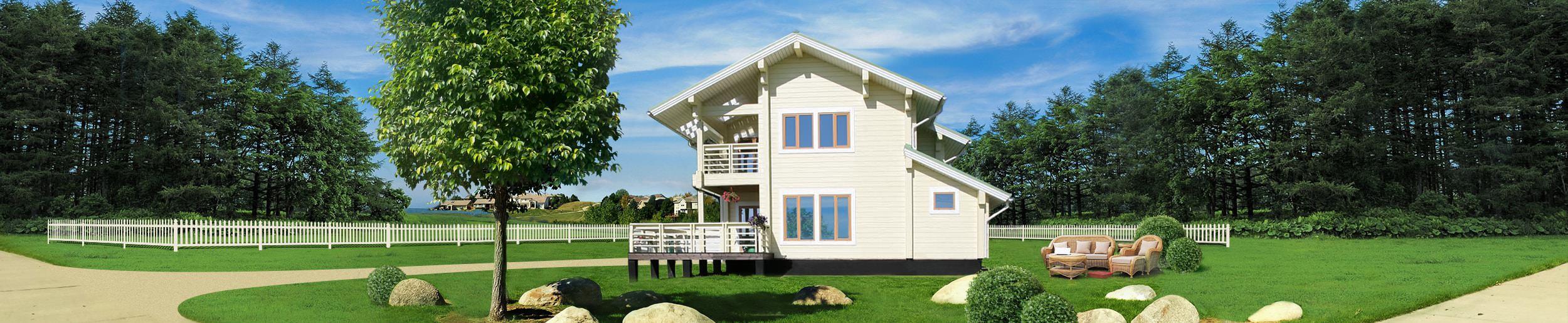 Дом из клееного бруса «Западное солнце»